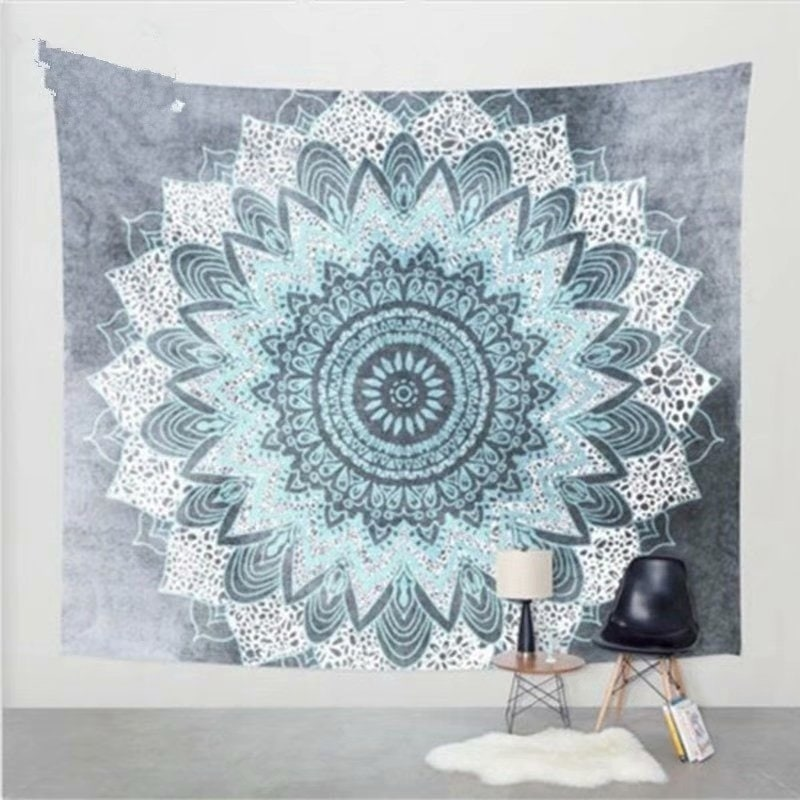 Afghans & Throw Blankets Home Décor Indian Mandala Sun Moon Cotton Wall Hanging Tapestry Poster Multicolor 30x40 Online Shop