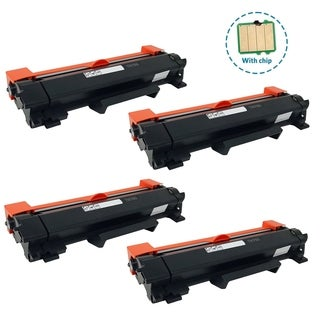 4PK Compatible TN760 Toner Cartridge with chip For Brother DCP-L2550DW HL-L2350DW HL-L2390DW HL-L2395DW HL-L2370DW ( Pack of 4 )
