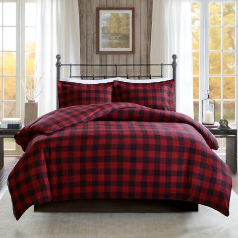 Woolrich Flannel Check Print Cotton Duvet Cover Set 2 Color Option