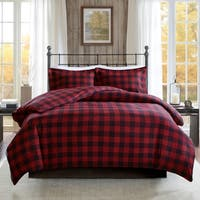 Woolrich Flannel Check Print Cotton Duvet Cover Set 2 Color Option