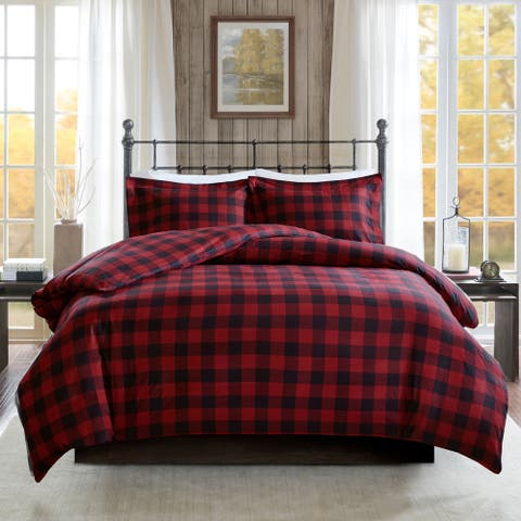 Woolrich Flannel Check Print Cotton Duvet Cover Set