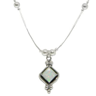 Handcrafted Elegant White Opal Pendant (India)