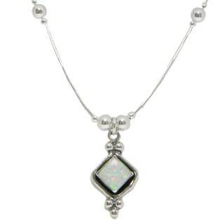 Handmade Elegant White Opal Pendant (India)
