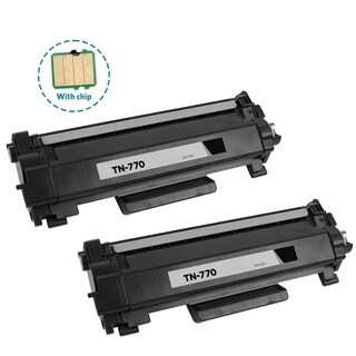 2PK Compatible TN770 Toner Cartridge with chip For Brother HL-L2370DW HL-L2370DWXL MFC-L2750DW MFC-L2750DWXL ( Pack of 2 )