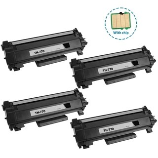 4PK Compatible TN770 Toner Cartridge with chip For Brother HL-L2370DW HL-L2370DWXL MFC-L2750DW MFC-L2750DWXL ( Pack of 4 )