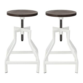 VIVA HOME 2 Set Swivel Bar Stool, Pub Height Barstool With Elm Seat