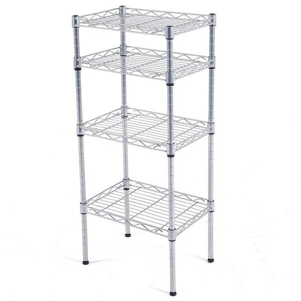 Js Home 4 Tier Kitchen Storage Rack Wire Shelving Unit Chrome