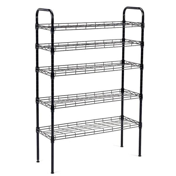 Superbe JS HOME 5 Tier Shoe Rack Shoe Tower Shelf Storage Organizer Cabinet   N/
