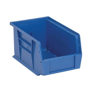 "Quantum Polypropylene Blue Ultra Stack and Hang Bin 9 1/4""L x 6""W x 5""H - 12 Pack"