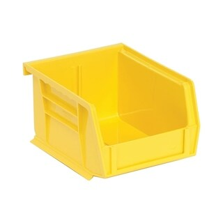 "Quantum Polypropylene Yellow Ultra Stack and Hang Bin 5 3/8""L x 4 1/8""W x 3""H - 24 Pack"