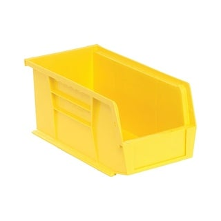 "Quantum Polypropylene Yellow Ultra Stack and Hang Bin 10 7/8""L x 5 1/2""W x 5""H - 12 Pack"