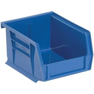 Quantum QUS200 Blue Plastic Ultra Stack and Hang Bin - 24 Pack