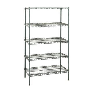 "Quantum Storage Systems Wire Shelving 5 Shelf Starter Units in Proform Finish - 14"" x 36"" x 86"""
