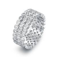 Rhodium Plated Cubic Zirconia Ring