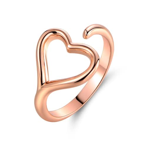 Rose Gold Plated Heart Shape Ring
