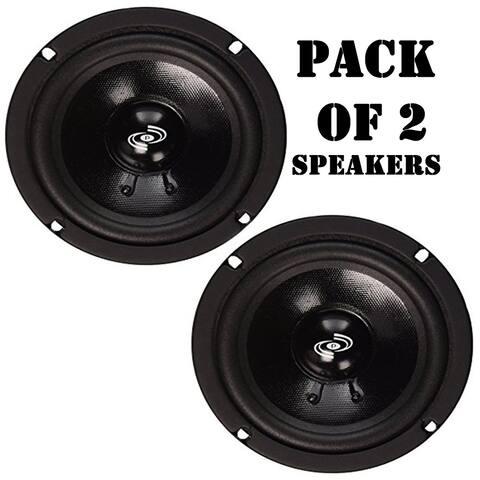 Pack of 2 - Pyle PDMR5 5 Inch Woofer Driver 200 Watt Peak High Performance Mid-Bass Mid-Range Car Speaker