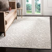 Safavieh Hand-Woven Mirage Modern & Contemporary Silver / Cream Wool Rug - 8' x 10'