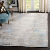 Safavieh Hand-Knotted Mirage Modern & Contemporary Blue Viscose Rug - 8' x 10'