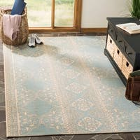 Safavieh Linden  Modern & Contemporary Cream / Aqua Rug - 9' x 12'
