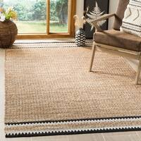 Safavieh Hand-Woven Natural Fiber Coastal Natural / Black Jute Rug - 6' x 9'