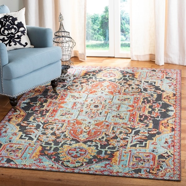Shop Safavieh Provance Vintage Aqua / Red Polyester Rug