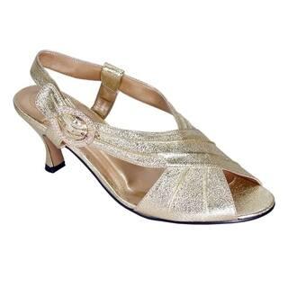 FLORAL Helene Women Extra Wide Width Trendy Elegant Open Toe Heels