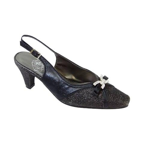 FLORAL Hanna Women Extra Wide Width Slingback Decorative Dress Shoes