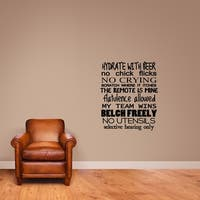 Man Rules Wall Decal - MEDIUM