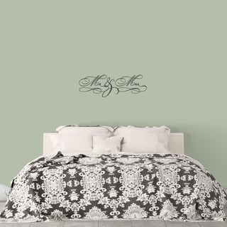 Mr. & Mrs. Wall Decal - MEDIUM (More options available)