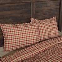 VHC Natural Tan Holiday Classic Country Bedding Jonathan Plaid Sham