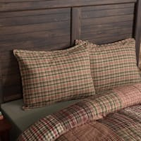 VHC Deep Red Holiday Rustic & Lodge Bedding Clement Sham
