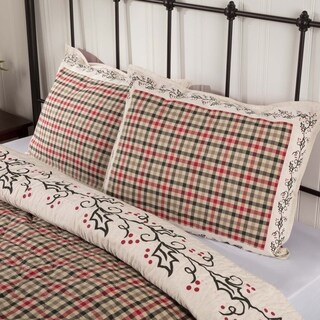 VHC Ivory White Holiday Bedding Hollis Sham