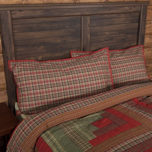 VHC Christmas Red Holiday Rustic & Lodge Bedding Gatlinburg Sham