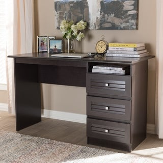 Contemporary Dark Brown Desk by Baxton Studio
