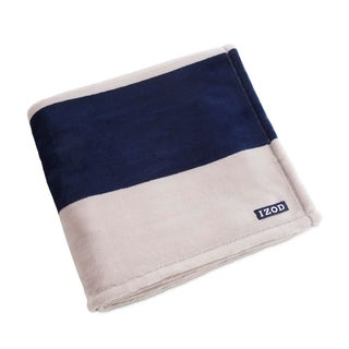 IZOD Rugby Stripe Standard Navy/White Throw