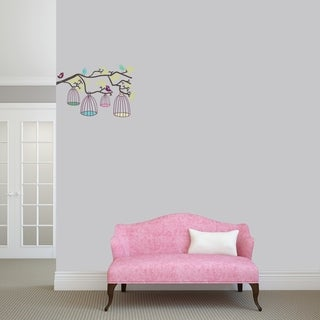 Birds Out Of Their Cages Printed Wall Decal