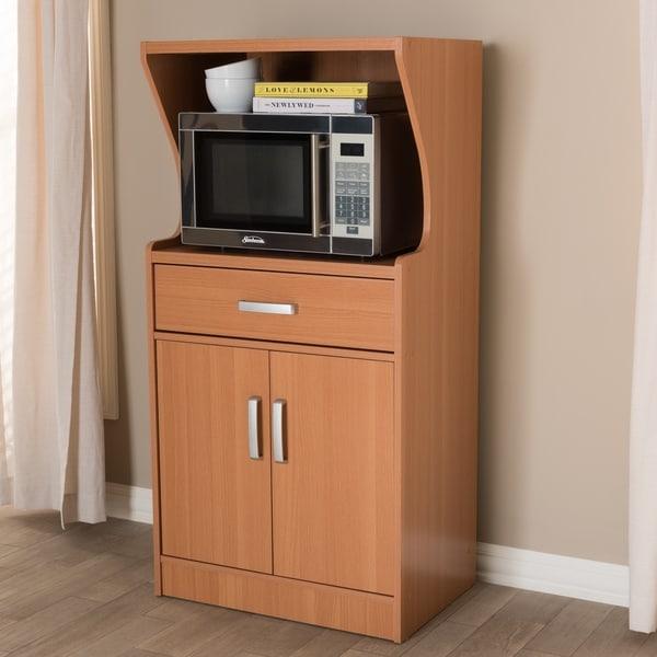 Shop Contemporary Brown Kitchen Cabinet By Baxton Studio