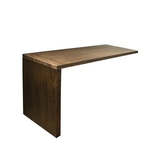 Perspectives Brown Acacia Wood Return Desk