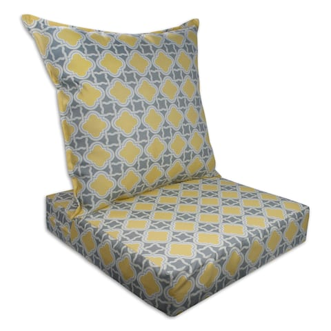 Sherry Kline Bandos Outdoor Deepseat and Backseat Replacement Cushions - 23x22x7/23x22x5
