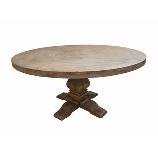 "Carbon Loft Nightingale Round Formal Dining Table - Brown - 30"" x 59.75"""