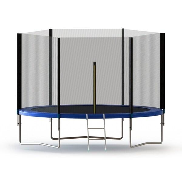 Shop ALEKO Trampoline 8 Feet With Safety Net And Ladder