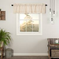 VHC Farmhouse French Country Curtains Simple Life Flax Solid Valance