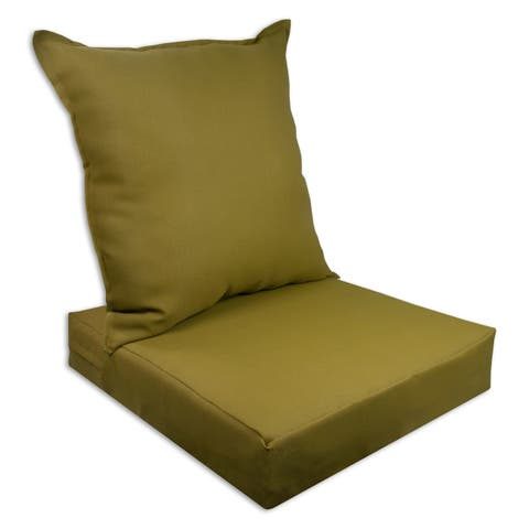 Sherry Kline Rendova Outdoor Deepseat and Backseat Replacement Cushions - 23x22x7/23x22x5