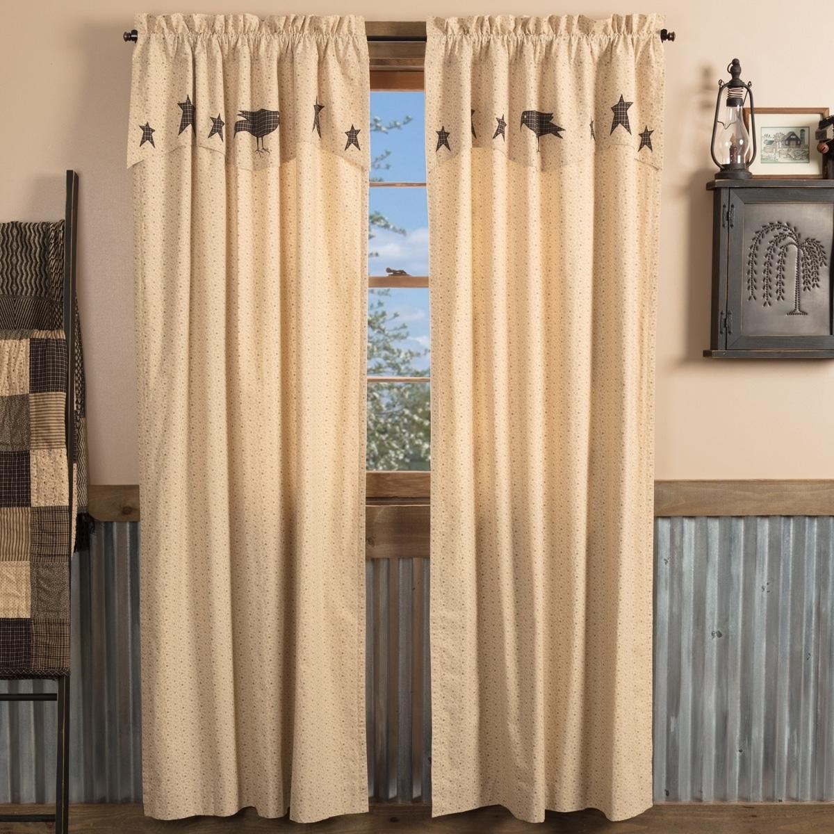 Pair Xmas window panels Swedish vintage. Two printed Christmas window panels curtains with rod pocket