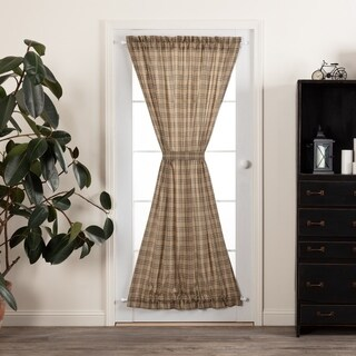 VHC Farmhouse Country Curtains Sawyer Mill Plaid Door Panel