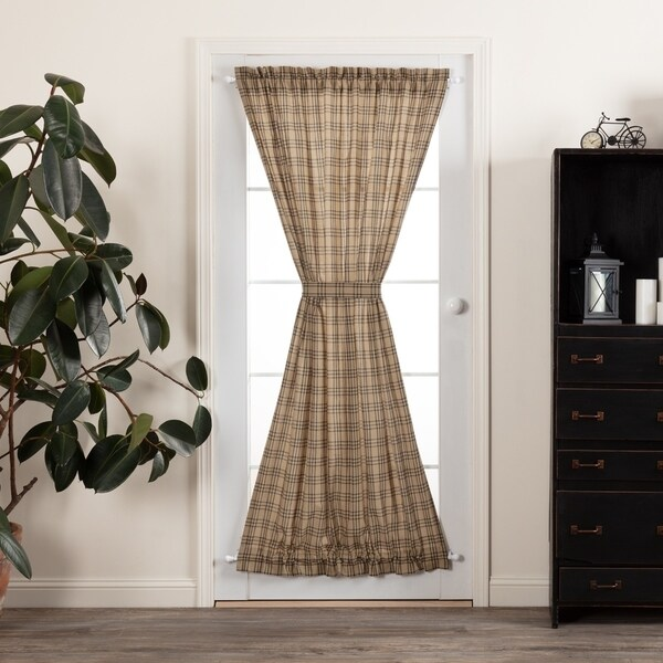 Shop Vhc Farmhouse Country Curtains Sawyer Mill Plaid Door Panel