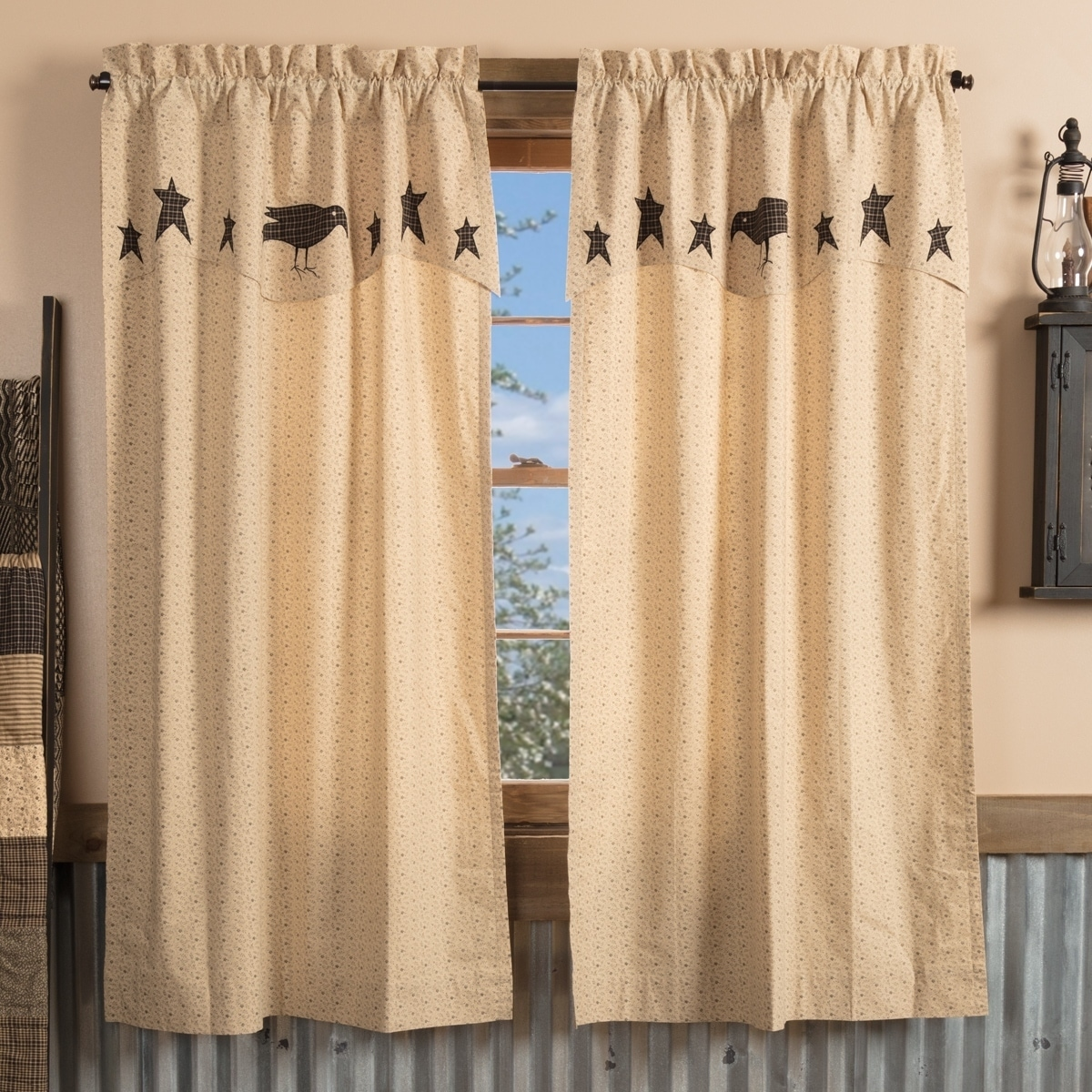 Kettle Grove Window Panels Set of 2