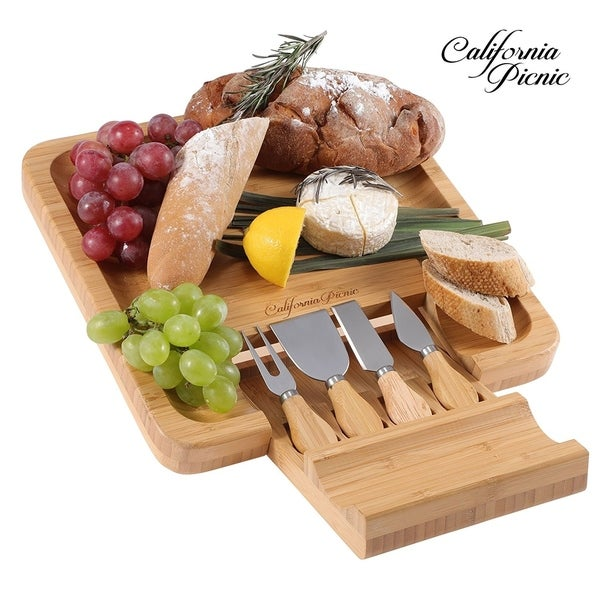 Shop California Picnic Cheese Board Set Charcuterie Board