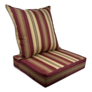 Sherry Kline Roxbury Outdoor Deepseat and Backseat Replacement Cushions - 23x22x7/23x22x5