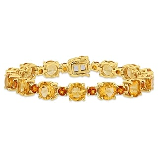Link to Miadora Yellow Plated Sterling Silver Madeira Citrine Tennis Bracelet Similar Items in Bracelets
